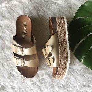d062258695a3 patrizia Shoes - Patrizia Norah Stacked Espadrille Metallic Sandal
